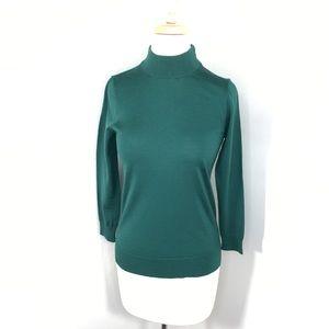 J Crew S 100 merino wool mock neck sweater so soft
